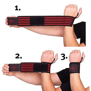 Strongman-Handgelenkbandagen mit extra breitem Klettverschluss C.P. Sports swr