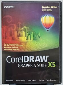 CorelDraw Graphics Suite X5 Education Edition DVD-ROM with serial number