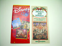 Vintage Walt Disney World Brochures 20 Year Anniversary & Holiday