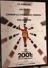 2001 Odissea nello Spazio (ediz. restaurata limitata 2018) manifesto cm. 100X140