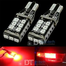 2X T10 921 912 60W High Power 3535 Chip LED Red Backup Reverse Light Bulbs