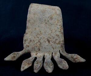 Art African Arts First - Antique Bracelet Ritual Iron Black Lobi - 17,5 CMS