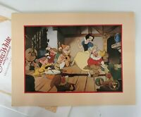 Disney 1994 Snow White and the 7 Dwarfs Exclusive Lithograph Stored in Envelope!