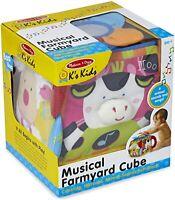 Melissa & Doug K's Enfants Musical Ferme Cube Peluche Éducatif Jouet Bébé