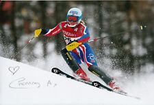 Chemmy Alcott Hand Signed 12x8 Photo British Alpine Skiing 4.