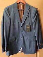 Mens Rare BEN SHERMAN Blue Sport Coat Blazer Jacket Business Suit 38R New NWT