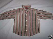 OLD NAVY BOYS' STRIPED L/S BUTTON FRONT SHIRT SZ 12-18M