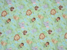 JUNGLE BABIES fabric PATTY REED ALLOVER JUNGLE BABIES FLANNEL fabric BTY NEW