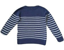 Next Boys Smart Blue and White Striped Jumper Age 8 Yrs In Vgc As Shown