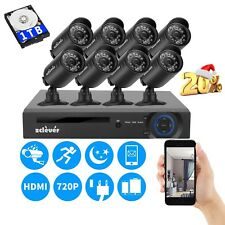8CH 1080P HDMI DVR 1500TVL Outdoor 720P CCTV Security Camera System 1TB HDD 8cam