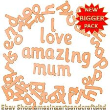 70 Wooden Letters Alphabet Lowercase Craft Educational Font Set Crafts
