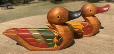 "🦆Vintage, Hand Made, Korean Wedding Ducks, 원앙세트, 9-1/4"" X 4-3/4""🇰🇷"