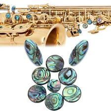 9pcs Saxophone Abalone Shell Key Buttons Inlays Musical Instrument for Sax