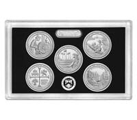 2019 S Silver Quarter Proof Set 5 Coin No Box/COA ☆☆ Over One Ounce .999 Silver