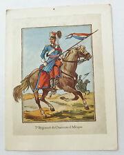 CARTE DE VOEUX 7° RCA CHASSEURS D'AFRIQUE ORIGINAL ANCIENNE CAVALERIE