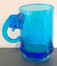 Heisey by Imperial Animals Figurines Elephant Handle Blue 12 oz. Mug Nixon Agnew