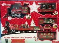 🔥Disney Mickey Mouse Holiday Express Train Set 36 Pieces Collectors Item NIB