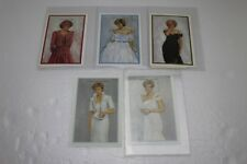 Lot of 5 Princess Diana Postage Stamps COA International Collectors Society NEW