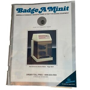 Badge A Minit 1987 Pins Buttons Magazine Catalog 47 Pgs