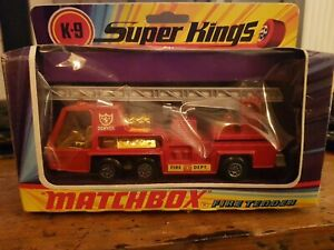 MATCHBOX 1972 SUPER KINGS  K9. FIRE TENDER BOXED