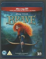BRAVE - 3D AND 2D - Disney/Pixar 3D BLU-RAY - (mint condition - as new/unplayed)