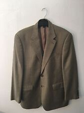 Chaps tan houndstooth blue and brown, 42 r, blazer, jacket