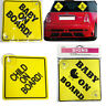 Baby on Board Car Sign Child Windscreen Vehicle Safety Badge Display Suction Cup