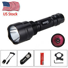 Military 5W 850nm IR Infrared Night Vision LED OSRAM Flashlight 18650 Gun Light