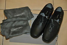 Authentic New Men's TOM FORD Crawford Pebbled Driving Black Loafer,size8T=8.5US