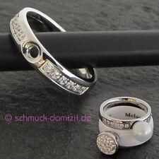 NEU - MelanO Twisted Ring Tracy CZ mit Zirkonias Gr. 55 - Edelstahl