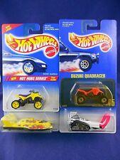 Hot Wheels 1995 - 2 Suzuki QuadRacers/Hydroplane/Big Chill – Lot of 4 – MIMP