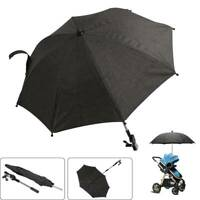 UV Protection 50 Sun Shade Universal Parasol Umbrella for Pushchairs and Sports Buggies Pram Umbrella with Universal Mount