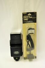 Sunpak model 422D flash with CA-1D module w/off camera flash ext. EXT-06. Tested