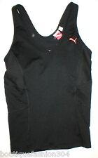 NWT Womens $40 M Puma Wicking Shirt Top Black Yoga Running Bra Gym Tank CoolCell