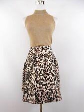 Zara WOMEN'S Diseñador Sexy Informal De Algodón Estampado Animal Falda de círculo Talla XL BI72