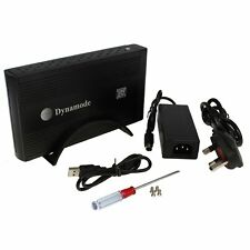 """DYNAMODE 3.5"""" USB 2.0 SATA HDD Hard DISK Drive Enclosure EXTERNAL POWERED BLACK"""