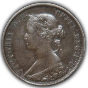 1861 Canada Canadian Nova Scotia Large Cent Ch AU + to Low end unc