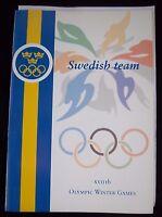 Orig.Team Guide  Olympische W.Spiele NAGANO 1998 - Team SCHWEDEN / alle Sportler