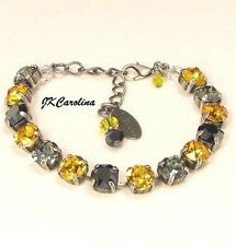 Pittsburgh PENGUINS PIRATES Crystal Bracelet made w/ BLACK Swarovski Crystals