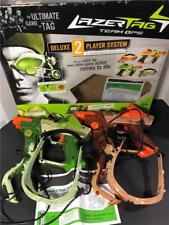 Lazer Tag Gun Team Ops Deluxe 2-Player System in Box w Manual Tiger Electronics