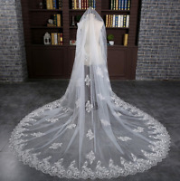 Cheap Wedding Veils Cathedral Comb Bridal Veil Accessories Formal Veil Sequins
