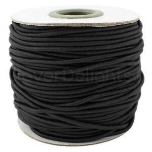 "2mm Elastic Cord - 1/16"" Round Elastic Stretch Cord - Craft Rubber - 30 150 Feet"