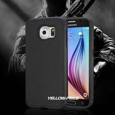 Samsung GALAXY S6 Case Heavy Duty Shock Proof Dual Layer Armour Black