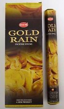 Hem Gold Rain Incense Bulk 6 x 20 Stick Box, 120 Sticks Wicca