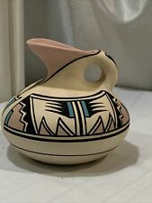 Desert Pueblo Pottery Hand Painted Stoneware Pitcher Signed 52 Arrows