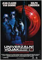 UNIVERSAL SOLDIER Original Czech A3 Movie Poster 1992 JEAN-CLAUDE VAN DAMME