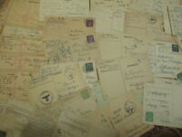 WW2 period stamp GERMAN DOCUMENT 1 Feldpost card 1940 1945