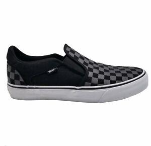 Vans Mens Off The Wall Slip On 721356 Black Gray Slip On Sneaker Shoes Size 11.5