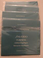 New Shiseido Pureness Oil-Control Blotting Paper 10 Sheets x 5