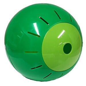 Green Pet Food Treat Dispenser Feeder Ball Toy for Cats and Dogs New
